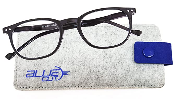 9f5b917ea9a15 Blue Light Blocking Round Glasses – Anti-Fatigue Computer Glasses Prevent  Headaches Gamer Glasses
