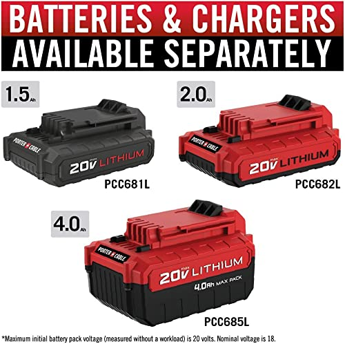 PORTER-CABLE battery and charger