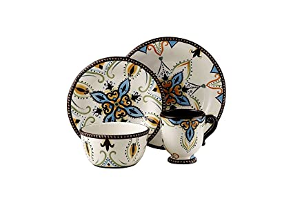 Tabletops Unlimited Dinnerware Vida By Eva Mendes Dinnerware Amalfi 4 Piece Place Setting  sc 1 st  Amazon.com & Amazon.com: Tabletops Unlimited Dinnerware Vida By Eva Mendes ...