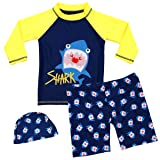 Boys Two Piece Rash Guard Swimsuits Kids Long