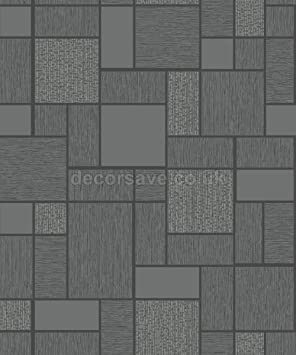 Holden Deco Granite Tile Kitchen Bathroom Wallpaper Embossed Glitter Black 89130