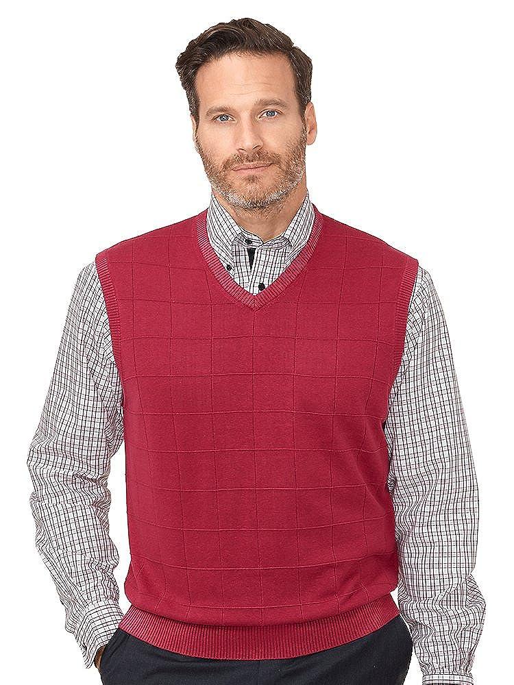 Paul Fredrick Men's Silk Grid V-Neck Vest KMF361V000000