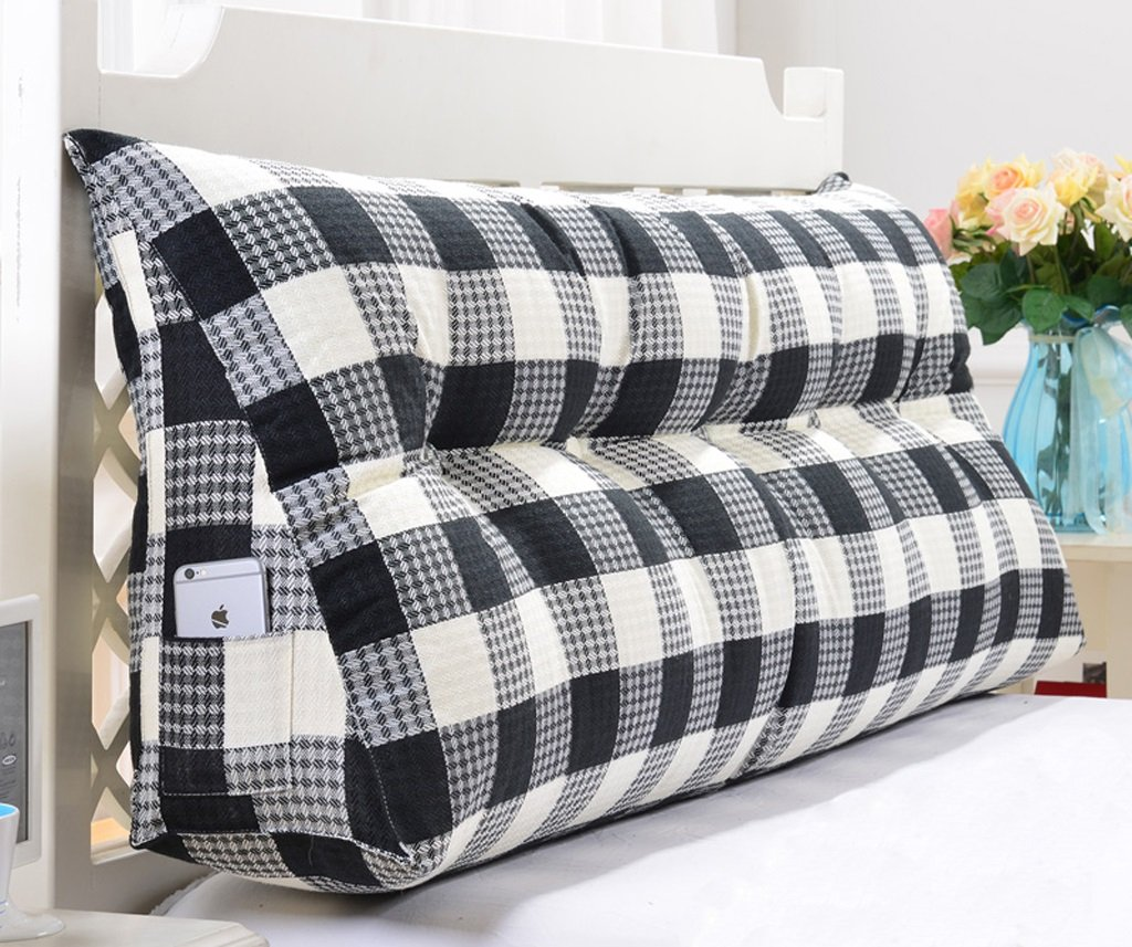 Linen Triangle Cushion Stripe Soft Package Bed Back Pad Size Diverse Optional ( Color : B , Size : 15050cm )