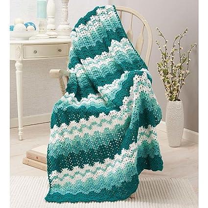 Amazoncom Herrschners Sea Foam Crochet Afghan Kit