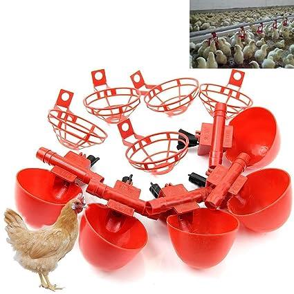 HeroNeo , 5 unidades para aves agua vasos - pollo gallina plástico bebedero automático