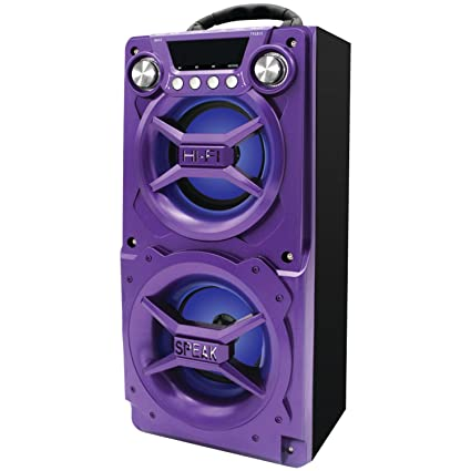 Sylvania SP328-Purple Portable Bluetooth Speaker