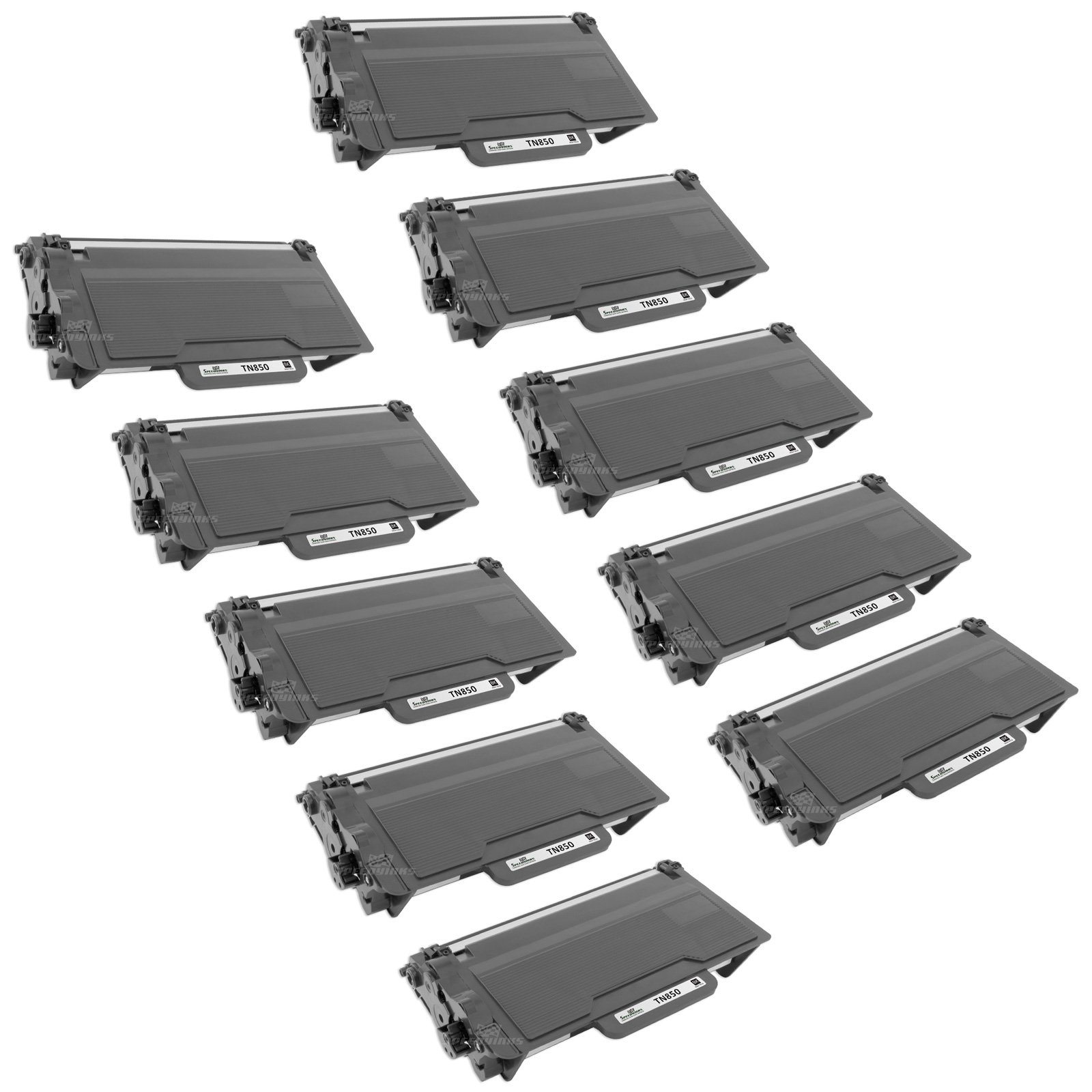Speedy Inks - 10PK Compatible Brother TN850 High Yield Black Toner Cartridge for use in Brother HL-L6200DW, MFC-L5800DW, MFC-L5850DW, MFC-L5900DW, MFC-L5700DW, MFC-L6700DW, MFC-L6750DW, MFC-L6800DW