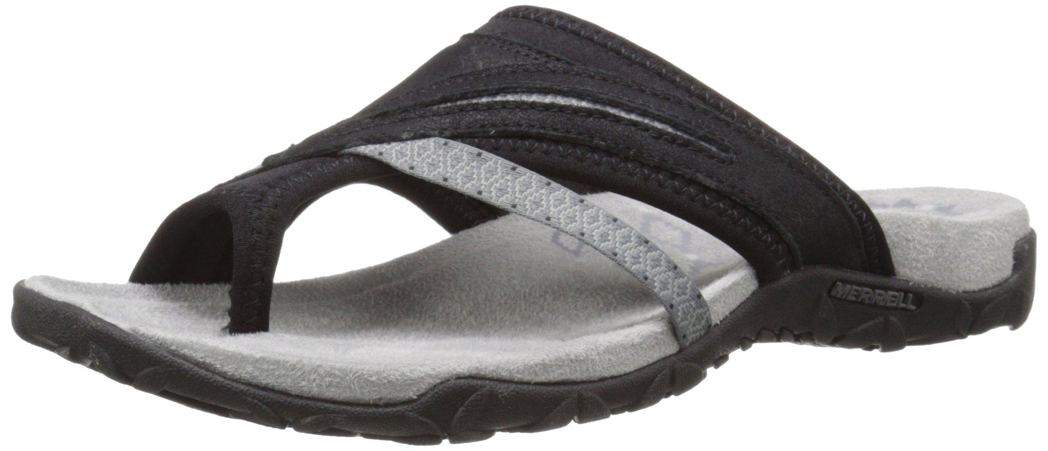 Merrell Women's Terran Post II Sandal, Black, 8 M US by Merrell