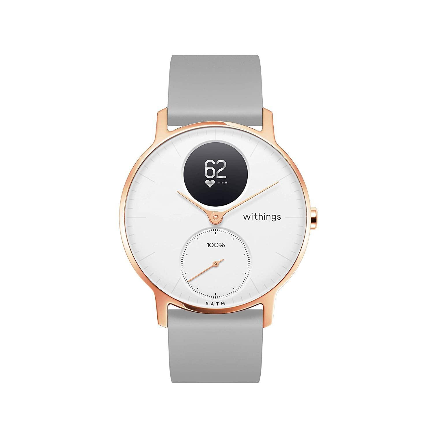 Amazon.com: Withings - Reloj inteligente híbrido de acero HR ...