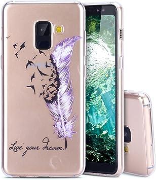MoEvn Funda para Samsung A8 2018 Carcasa, Ultra Slim Transparente ...