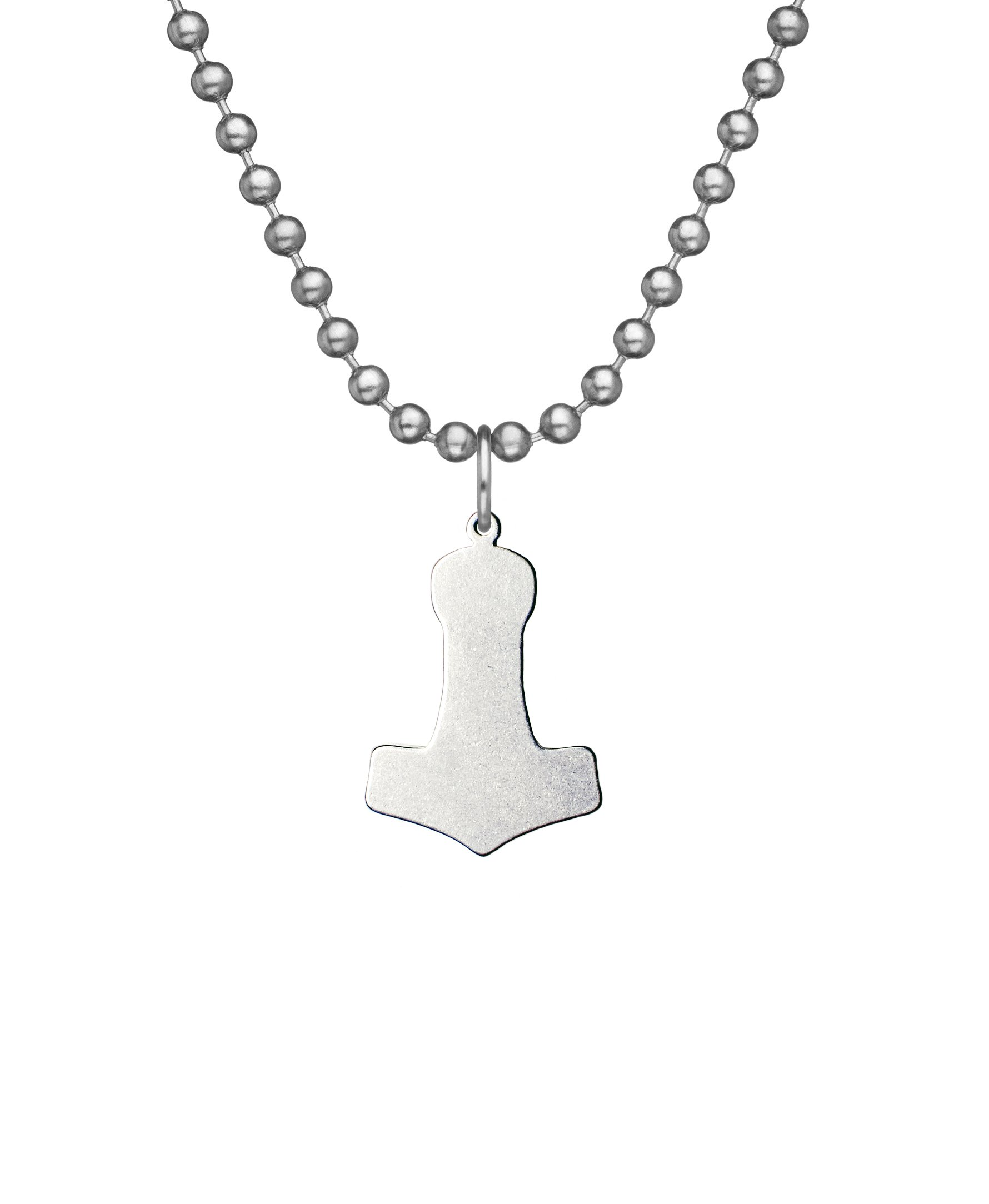 Military Issue MJOLNIR (Thor's Hammer) With Beaded Chain - 24''