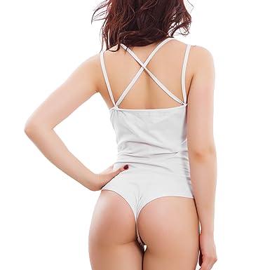 2f4fb3623186dd Toocool - Body Donna Pizzo Top Perle Sottogiacca Elegante Spalline Doppie  Sexy VB-1744 [Taglia Unica,Bianco]: Amazon.it: Abbigliamento