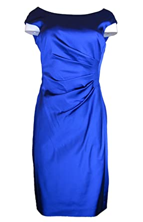 b2b198937cf Amazon.com  LAUREN RALPH LAUREN Women s Cap Sleeve Satin Sheath ...