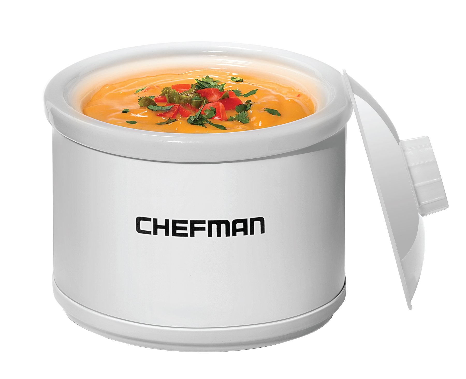 Chefman Mini Dipper Fondue Maker Food Warmer, Extra Small, 21 oz, White