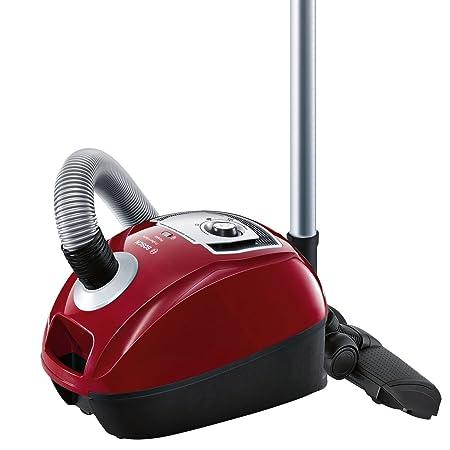 Bosch BGL4A500 GL-40 ProPerformPlus - Aspirador trineo con bolsa, diseño compacto, cepillo especial para parquet, color rojo cereza