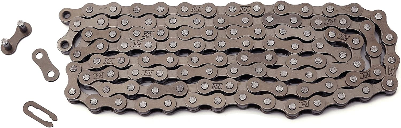 1-Speed, 1//2 x 1//8-Inch, 112L KMC Z410 Bicycle Chain Ti-N Gold
