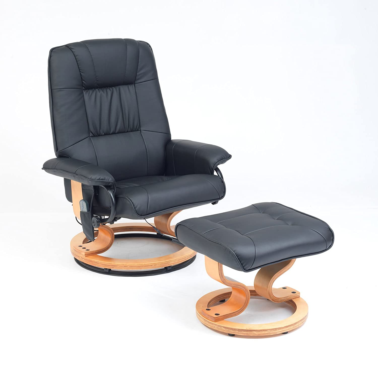 Heartwood Heat and Massage Chair with Free Stoo Black Amazon