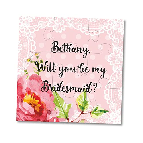 Bridesmaid Invitation Lace Wedding Puzzle