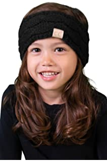 f43d57080ac Funky Junque Kids Baby Toddler Knit Fuzzy Lined Head Wrap Headband Ear  Warmer