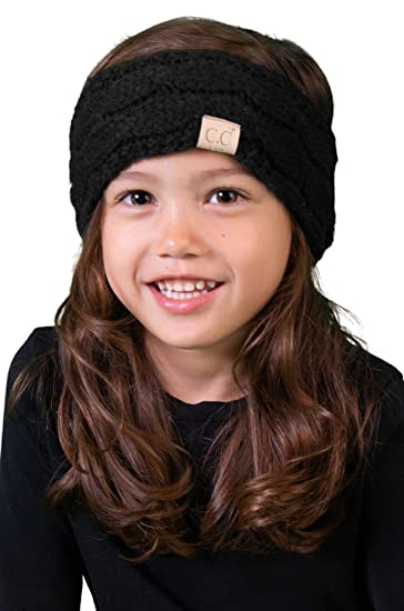 64db938bb4c Amazon.com  HWK-6847-06 Kids Headwrap - Black (Solid)  Clothing