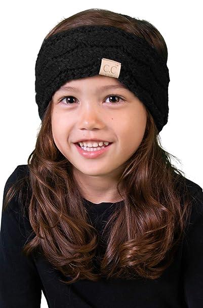 0db02ff1302 Amazon.com  HWK-6847-06 Kids Headwrap - Black (Solid)  Clothing