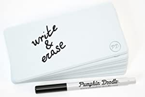 Pumpkin Doodle - Write and Reuse Sticky Labels (White)