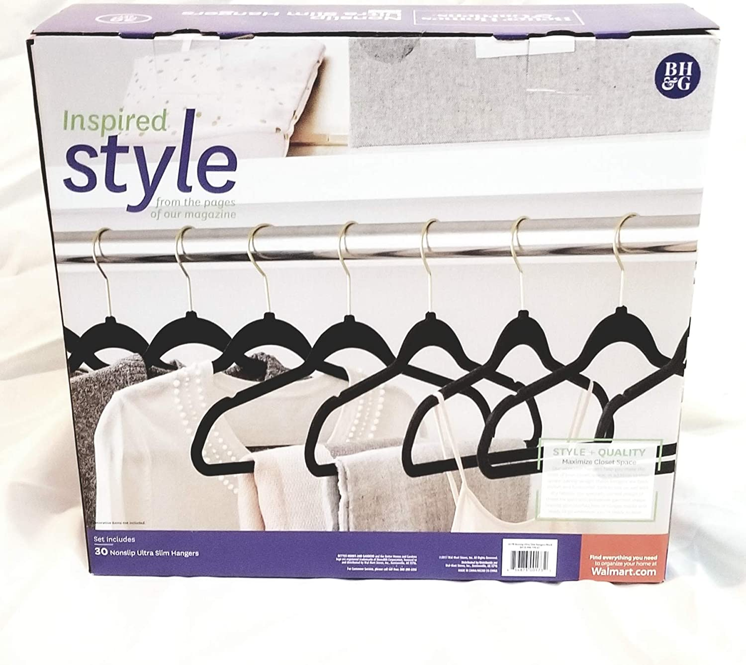 Better Homes and Garden Nonslip Ultra Slim Hangers (Black)