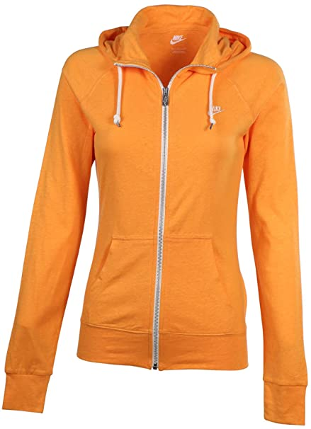 0daa7035bf15 Nike Women  Full Zip Gym Vintage Orange at Amazon Women s Clothing store