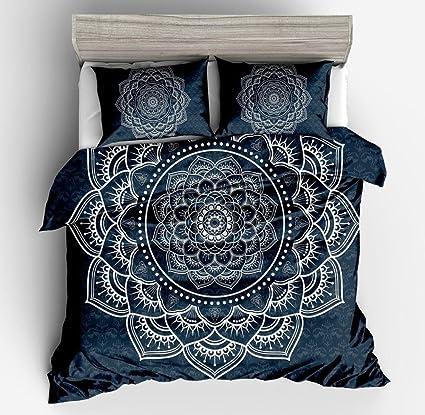 Amazoncom Ktlrr Lotus Duvet Cover Setbohemian Tattoo Style