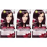 3.26 Deep Burgundy: Garnier Color Sensation Hair Color Cream, 3.26 Berry Picking (Deep Burgundy) 3 Count (Packaging May Vary)