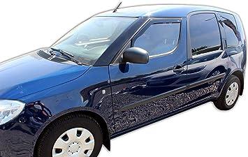 J J Automotive Windabweiser Regenabweiser Für Skoda Roomster 5 Türer 2006 2015 2tlg Heko Dunkel Auto