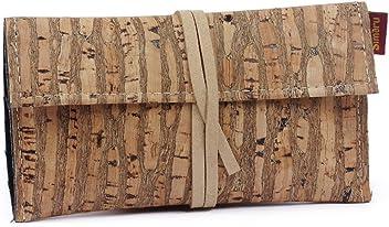 d9ae2a924c SIMARU Borsello porta tabacco in robusto sughero / cuoio di sughero,  Portatabacco incl. Tasche