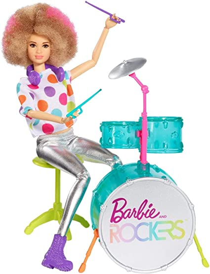 Barbie and Rockers Drum Doll Outfit Polkadot Top Pants Shoes//Boots NEW Drummer