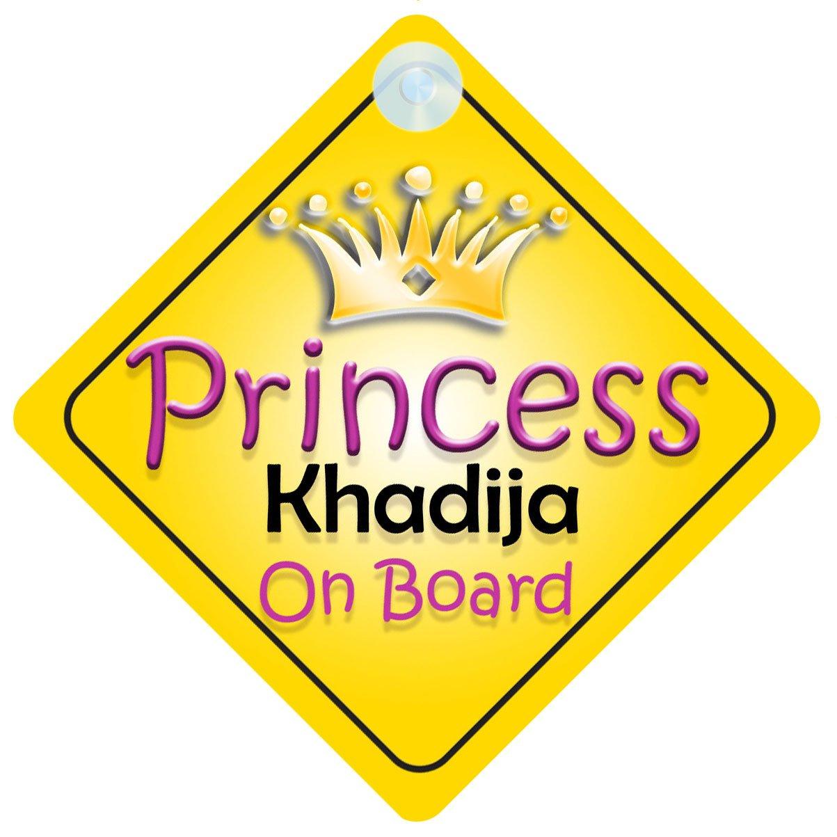 Princess Khadija On Board Girl Car Sign Child/Baby Gift/Present 002 Quality Goods Ltd