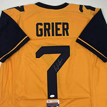 d57069c2c Signed Will Grier Jersey - West Virginia Yellow College COA - JSA Certified  - Autographed College Jerseys at Amazon s Sports Collectibles Store