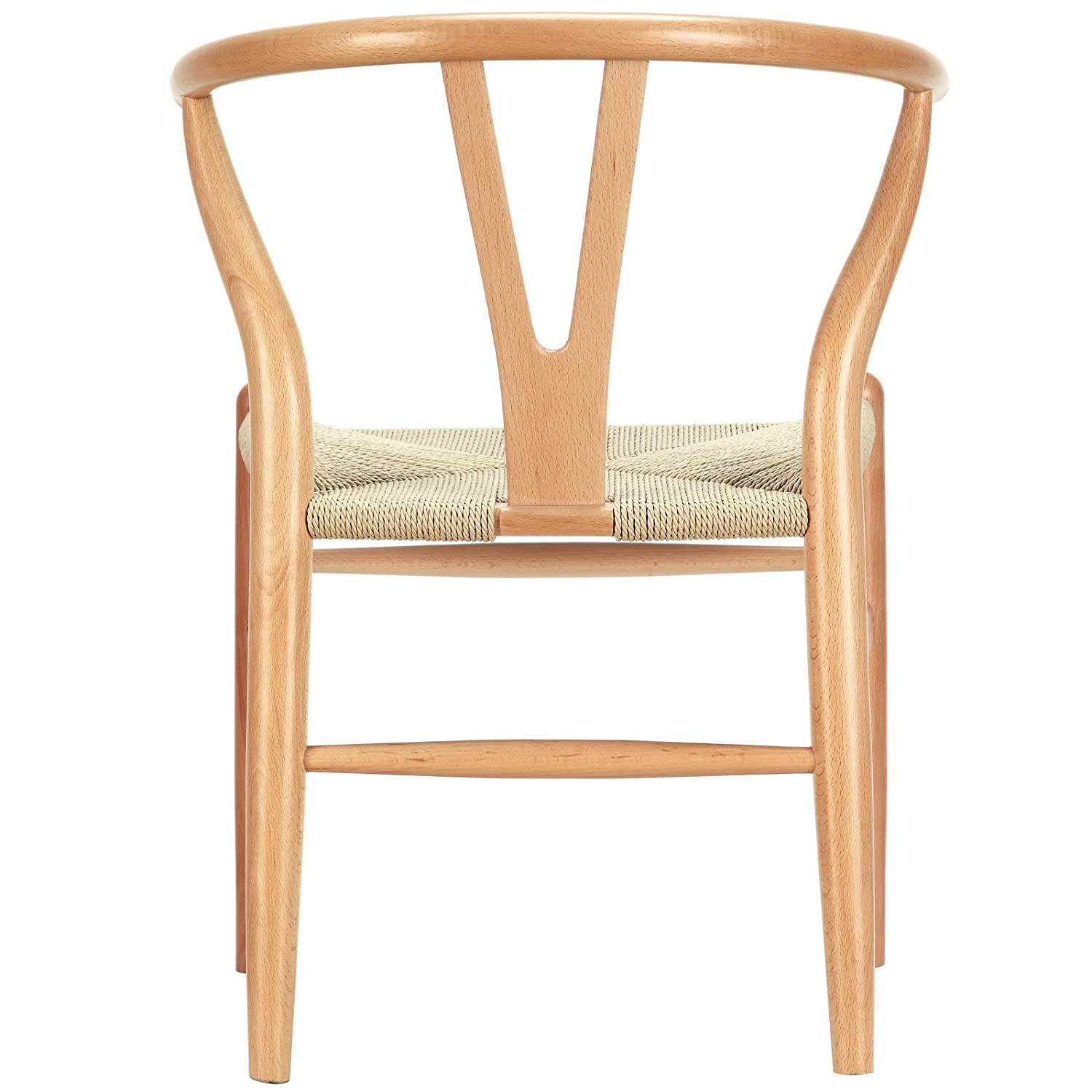 Amazon LexMod C24 Wishbone Chair in Natural Chairs