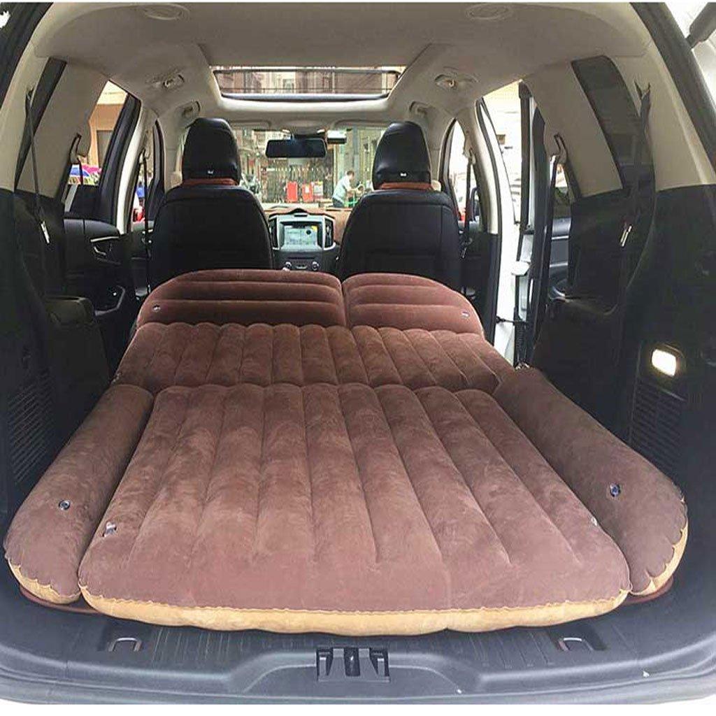 RMJXJJ-car air bed Auto-Luftmatratze-Matratzen-Stamm-faltendes Auto-Luftpolster-Auto-Bett (Farbe : Braun)
