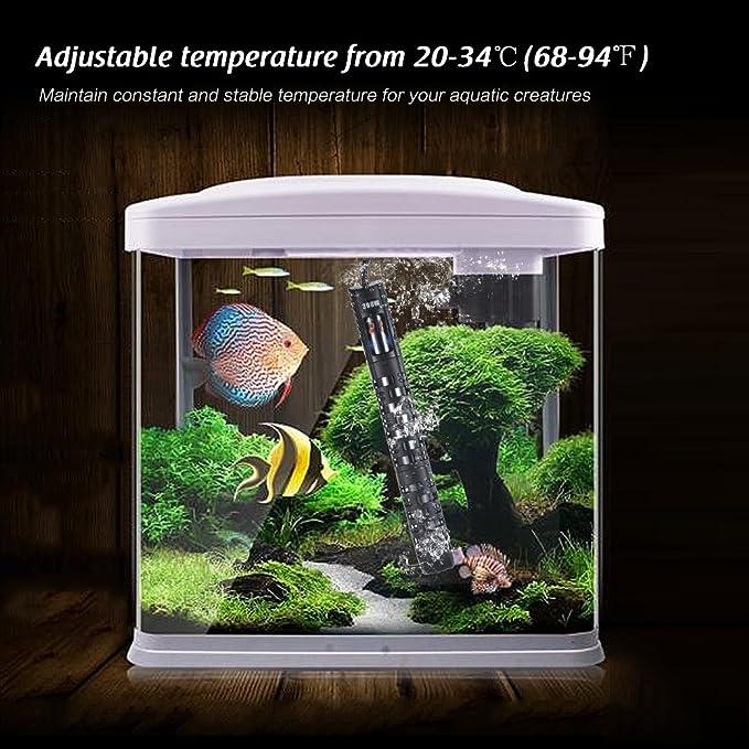 Decdeal Calentador de Acuario Sumergible Ajustable con Led Pantalla Barra de Calentamiento de Estanque de Peces con Ventosa de Manga Protectora: Amazon.es: ...