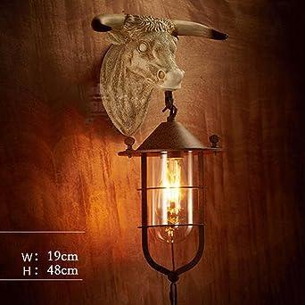 Lampe Têtes Intérieure D'animaux Murale En Fer Résine JcTl1FK