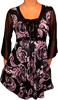 product image for Funfash Women Plus Size Corset Style Black Purple Top Shirt Blouse Made in USA
