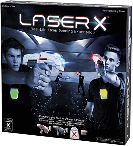 LASER X  Real-Life Laser Gaming Experence 200/' Range  NEW!! 4 Sport Blasters