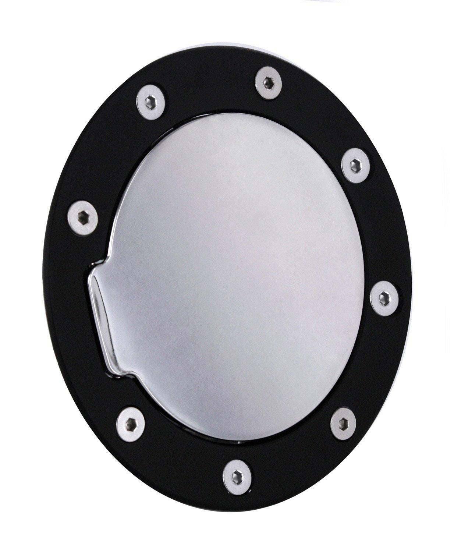 All Sales 6095KC Black Ring with Chrome Billet Aluminum Fuel Door