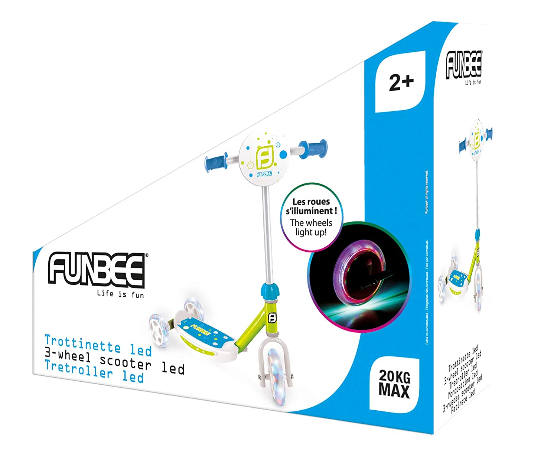 Funbee OFUN13-G-LED-ES - Patinete de Tres Ruedas, Color ...