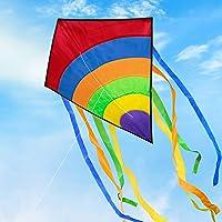 Funyole Gran Cometa para Niños y Adultos, Cometas de Colores Fácil de Volar, Ideal para Principiantes, Juegos al Aire…