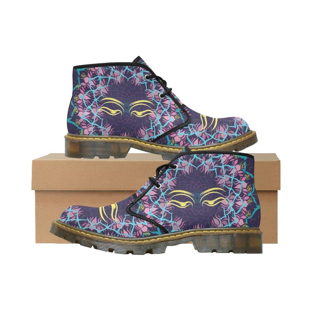 Artsadd Unique Debora Custom Women's Nubuck Chukka Boots Ankle Short Booties B0795LYFWC 9 B(M) US Multicolored23