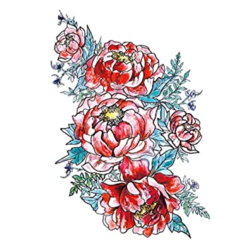 Nuevas pegatinas de tatuaje de brazo de flor arte de moda flores ...