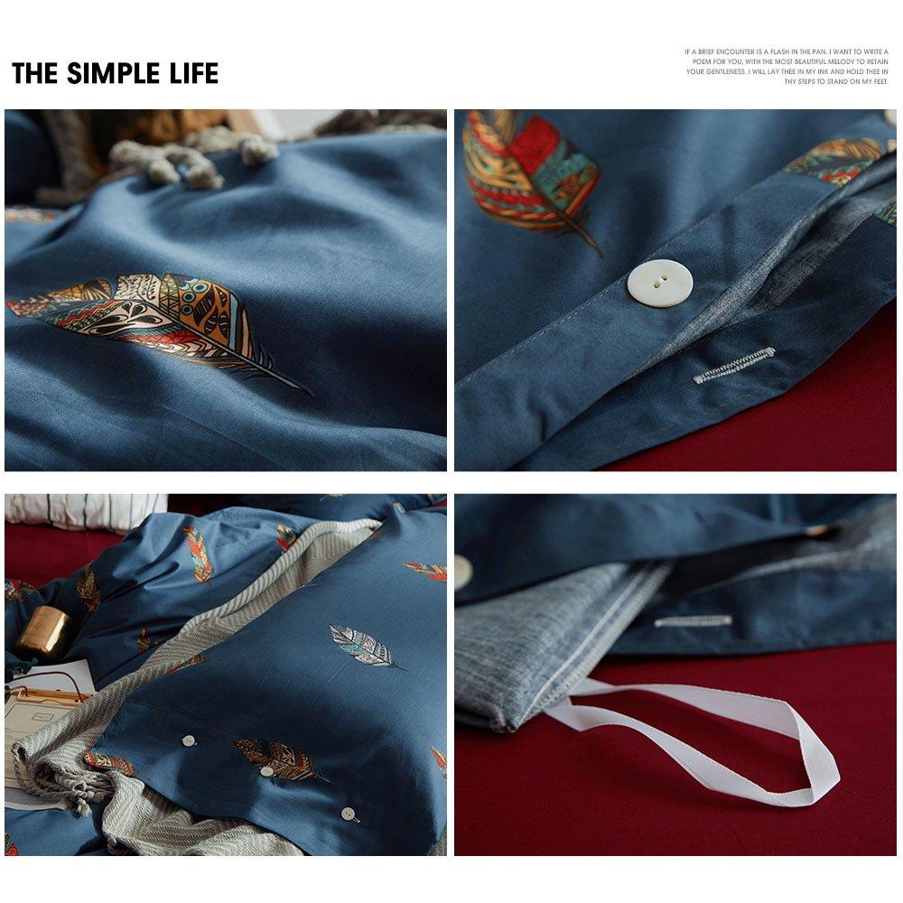 MKXI Fashionable Pattern Satin Jacquard Silk Duvet Cover Set,Luxury Paisley King Set MK008-5goldK