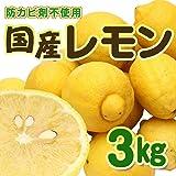 広島県産 レモン 有機肥料栽培 【防腐剤/防かび剤不使用】 (3kg)