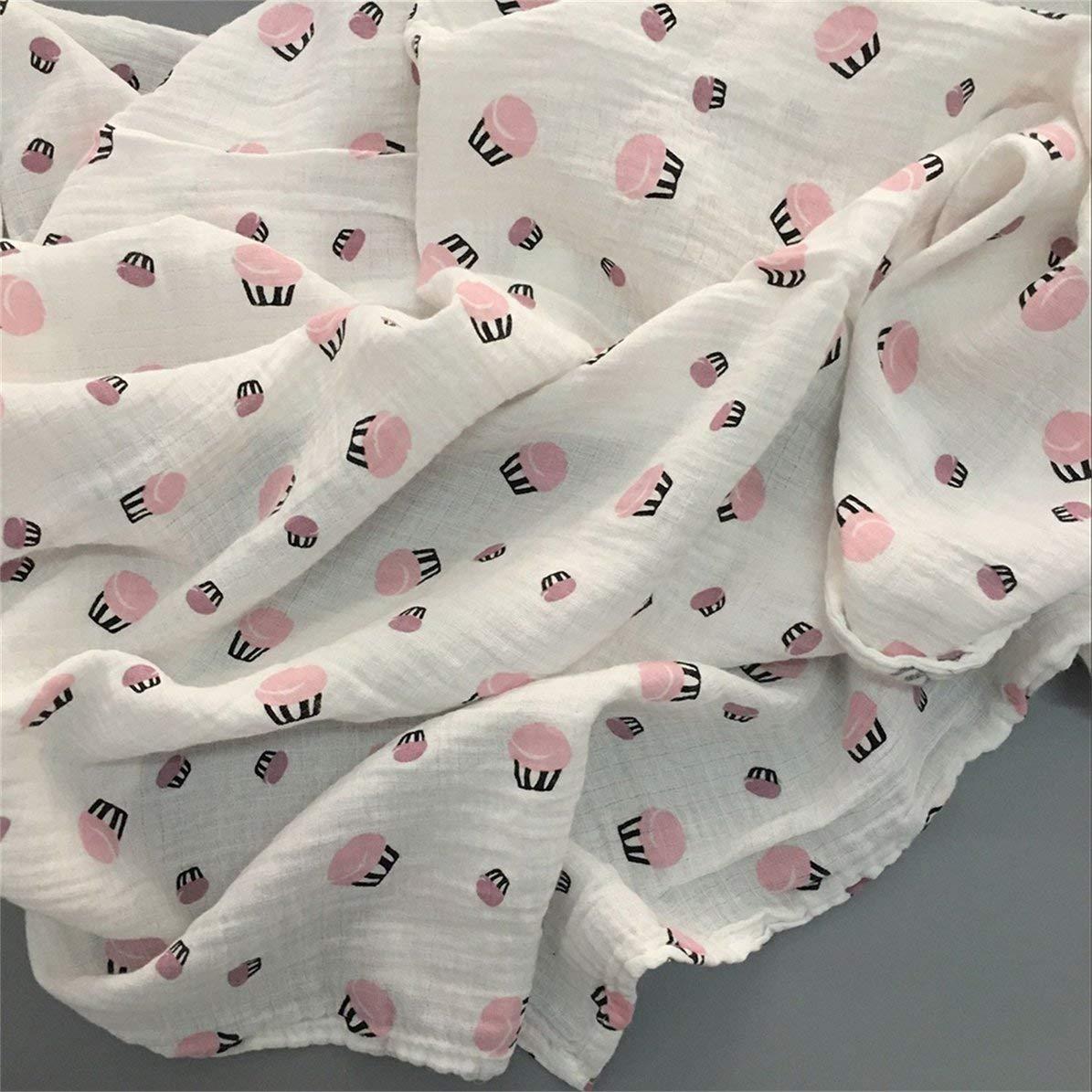 120x120cm Manta de muselina para beb/é manta para beb/é Algod/ón 100/% Reci/én nacido Toalla de ba/ño para beb/é Mantas Swaddle Multi Dise/ños Funciones gatito multicolor WEIWEITOE