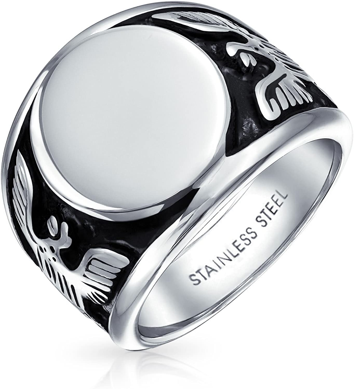 Double Layer Rhinestone Diamond Titanium Steel Finger Rings Men/'s Gift